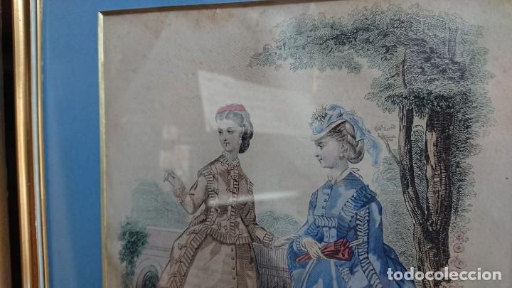 Arte: LOTE 3 GRABADOS EN COLOR 1846 LA MODA ELEGANTE PARIS - Foto 12 - 153577450