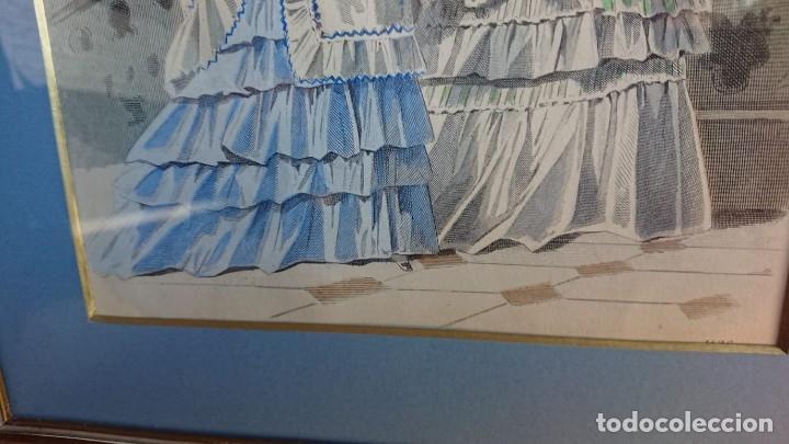 Arte: LOTE 3 GRABADOS EN COLOR 1846 LA MODA ELEGANTE PARIS - Foto 13 - 153577450