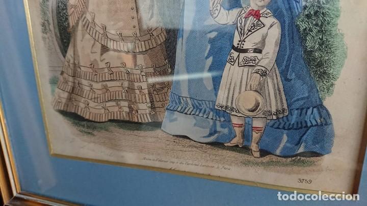 Arte: LOTE 3 GRABADOS EN COLOR 1846 LA MODA ELEGANTE PARIS - Foto 14 - 153577450