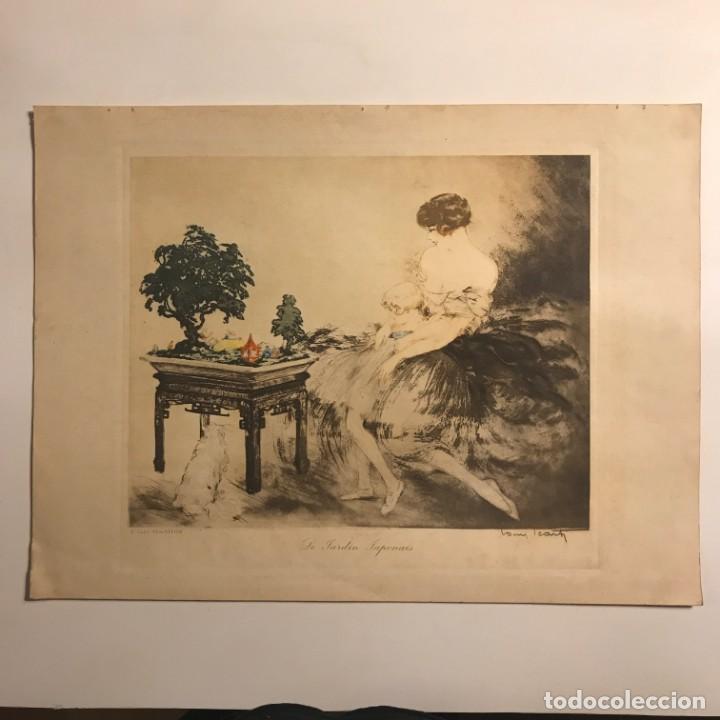 1932 Le Jardin Japonais. Aguafuerte en color. Firmado. París 38x28,2 cm - 153599594