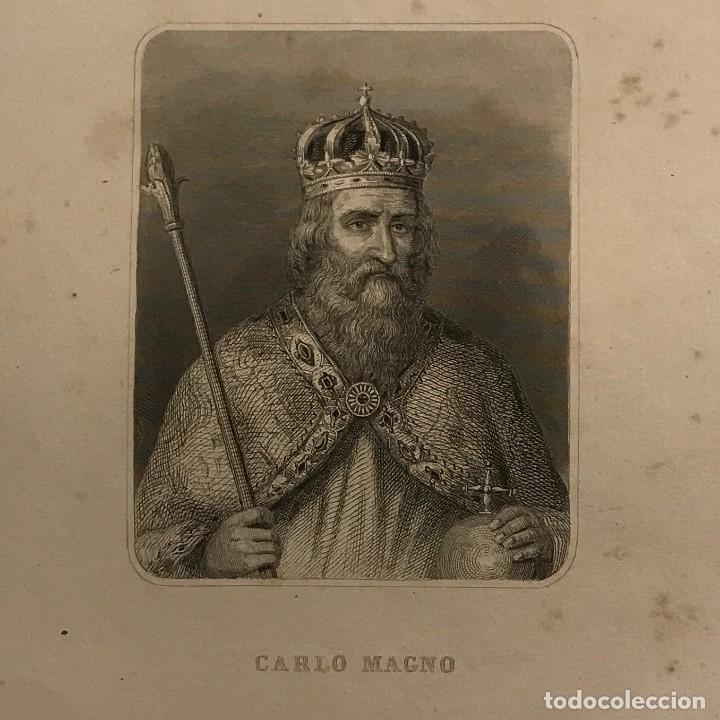 CARLO MAGNO. GASPAR Y ROIG EDITORES. MADRID 28X17,5 CM (Arte - Grabados - Modernos siglo XIX)