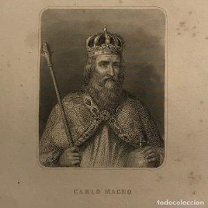 Grabado antiguo de Carlo Magno