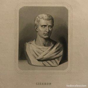 Grabado antiguo de Ciceron