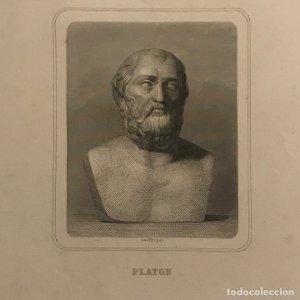 Grabado antiguo de Platon