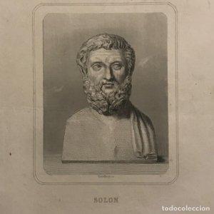 Grabado antiguo de Solon