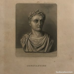 Grabado antiguo de Constantino