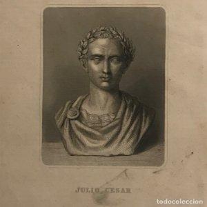 Grabado antiguo de Julio Cesar