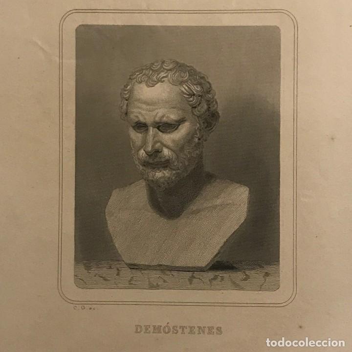 DEMÓSTENES. GASPAR Y ROIG EDITORES. MADRID 28X18,3 CM (Arte - Grabados - Modernos siglo XIX)