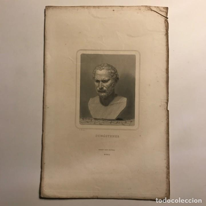 Arte: Demóstenes. Gaspar y Roig Editores. Madrid 28x18,3 cm - Foto 2 - 149257938