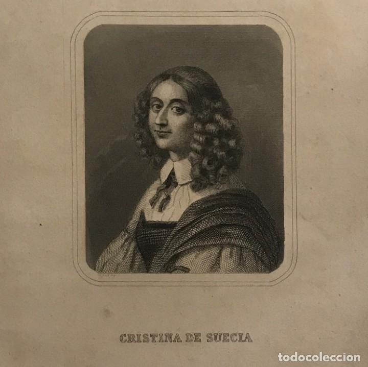 CRISTINA DE SUECIA. GASPAR Y ROIG EDITORES. MADRID 27,5X17,7 CM (Arte - Grabados - Modernos siglo XIX)