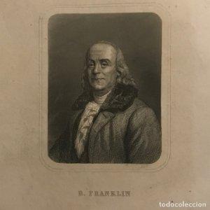 Grabado antiguo de Benjamin Franklin (1706-1790)