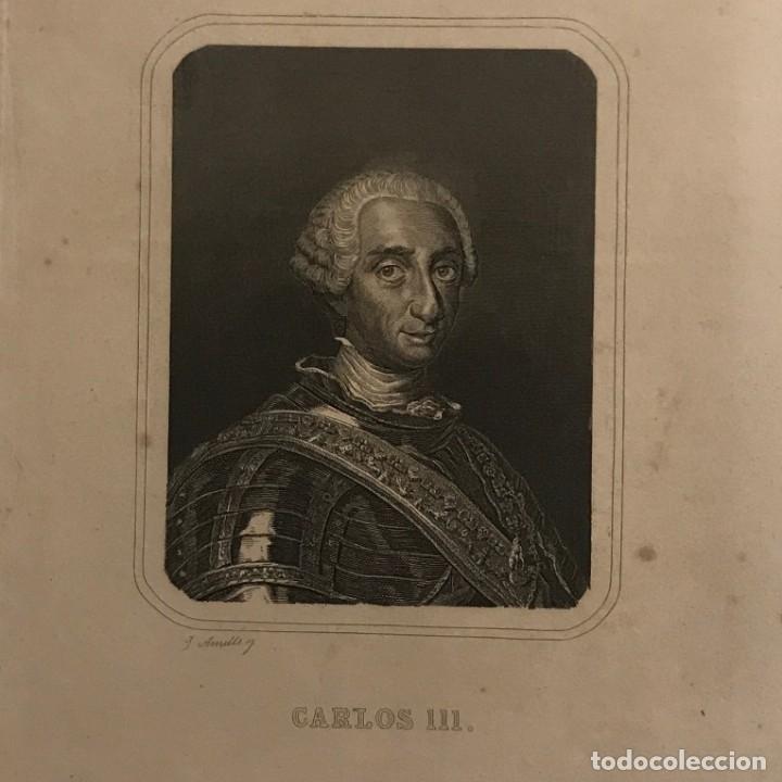 CARLOS III DE ESPAÑA (1716-1788) GASPAR Y ROIG EDITORES. MADRID 26X15,5 CM (Arte - Grabados - Modernos siglo XIX)