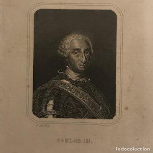 Grabado antiguo de Carlos III de España (1716-1788)