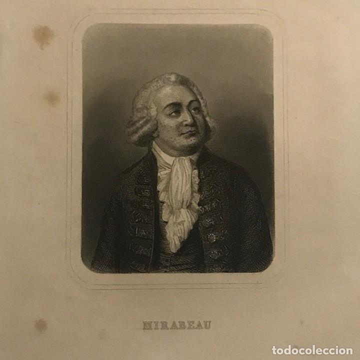 HONORE MIRABEAU NACIDO COMO GABRIEL RIQUETI. GASPAR Y ROIG EDITORES. MADRID 27,4X17 CM (Arte - Grabados - Modernos siglo XIX)