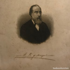 Grabado antiguo de Francisco Pi y Margall (1804-1921)