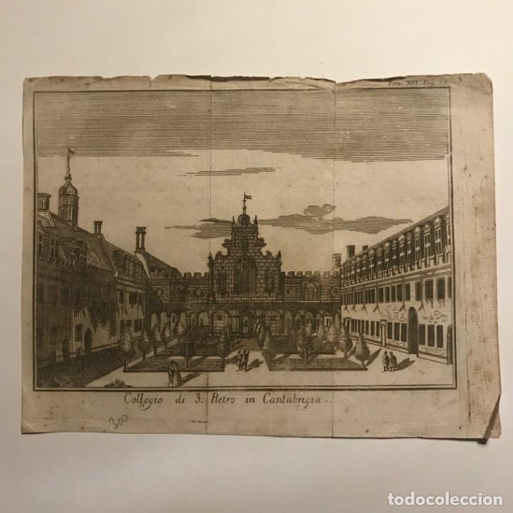 Arte: Collegio di S. Pietro in Cantabrigia. Tom.XII. Pag.54 22x16,8 cm - Foto 2 - 149259806