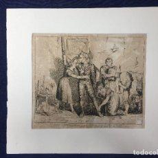 Arte: ANTIGUO GRABADO DE BARTOLOMEO PINELLI ROMA 1833 ESCENA VISTIENDO AL CABALLERO DON QUIJOTE S XIX. Lote 153785858