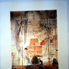 Arte: IMPRESIONANTE GRABADO DE DALI,DESCUBRIMIENTO DE AMÉRICA DE 1958,FIRMADO Y NUMERADO,50 X 65 CM. Lote 218359100