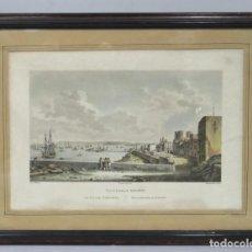 Arte: GRABADO. VISTA DE LA BAHIA DE ALICANTE. J. JEROME BAUGEAN (1764-1819). DEQUEVAUVILLER. Lote 154091850