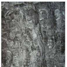 Arte: AMALGAMA GRÁFICA CONTEMPORÁNEA 2018. JEAN FRANÇOIS JULLIEN. PUNTA SECA EN PLEXIGLAS. Lote 154104186