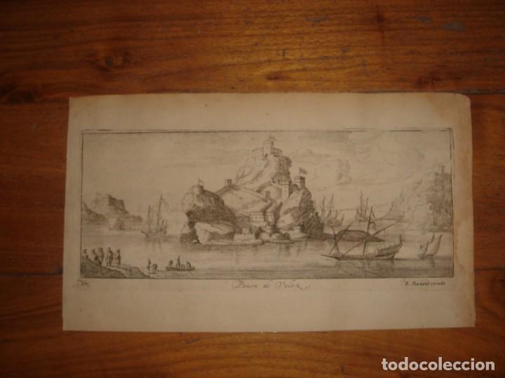 GRABADO PEÑÓN DE VELEZ DE LA GOMERA, ORIGINAL, AMBERES, 1670, BOUTTATS/PEETERS, BUEN ESTADO (Arte - Grabados - Antiguos hasta el siglo XVIII)