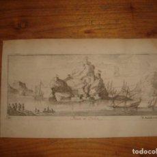 Arte: GRABADO PEÑÓN DE VELEZ DE LA GOMERA, ORIGINAL, AMBERES, 1670, BOUTTATS/PEETERS, BUEN ESTADO. Lote 154180174
