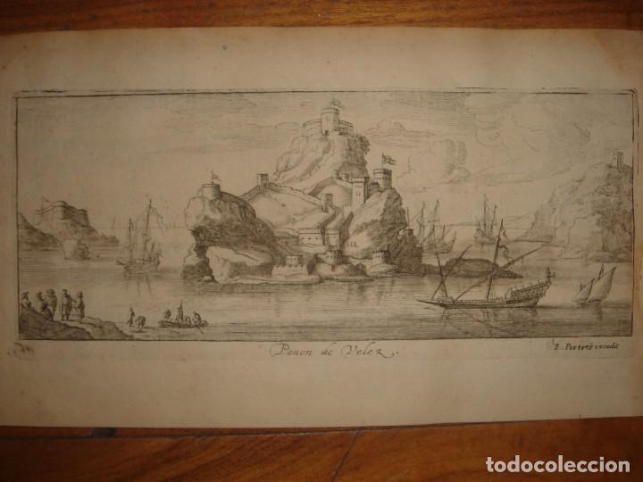 Arte: GRABADO PEÑÓN DE VELEZ DE LA GOMERA, ORIGINAL, AMBERES, 1670, BOUTTATS/PEETERS, BUEN ESTADO - Foto 2 - 154180174