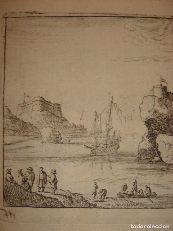 Arte: GRABADO PEÑÓN DE VELEZ DE LA GOMERA, ORIGINAL, AMBERES, 1670, BOUTTATS/PEETERS, BUEN ESTADO - Foto 3 - 154180174