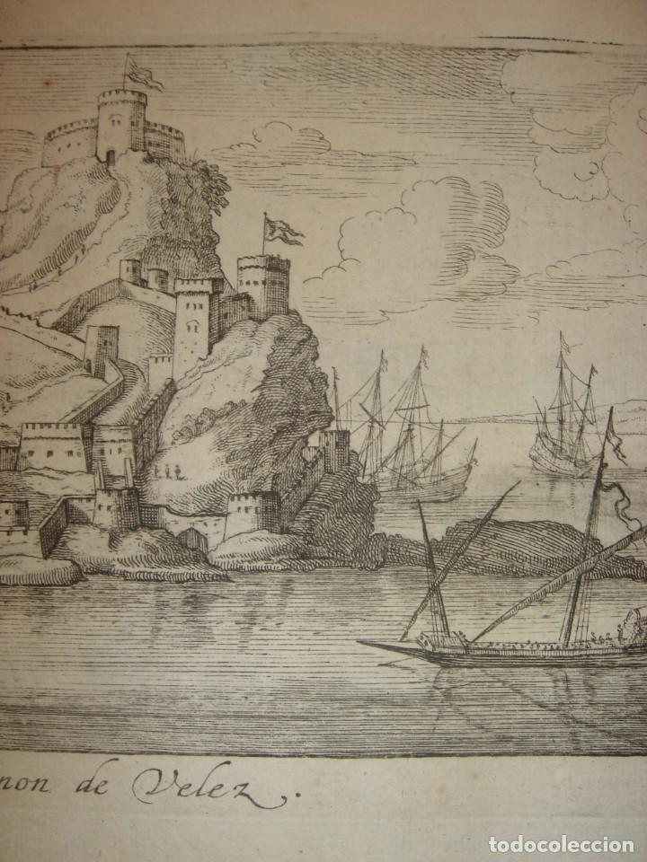 Arte: GRABADO PEÑÓN DE VELEZ DE LA GOMERA, ORIGINAL, AMBERES, 1670, BOUTTATS/PEETERS, BUEN ESTADO - Foto 5 - 154180174