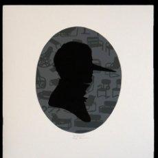 Arte: FERNANDA ÁLVAREZ PARA SIGFRIDISMOS. SERIGRAFIA A DOS TINTAS Y COLLAGE. 2012. Lote 154627994