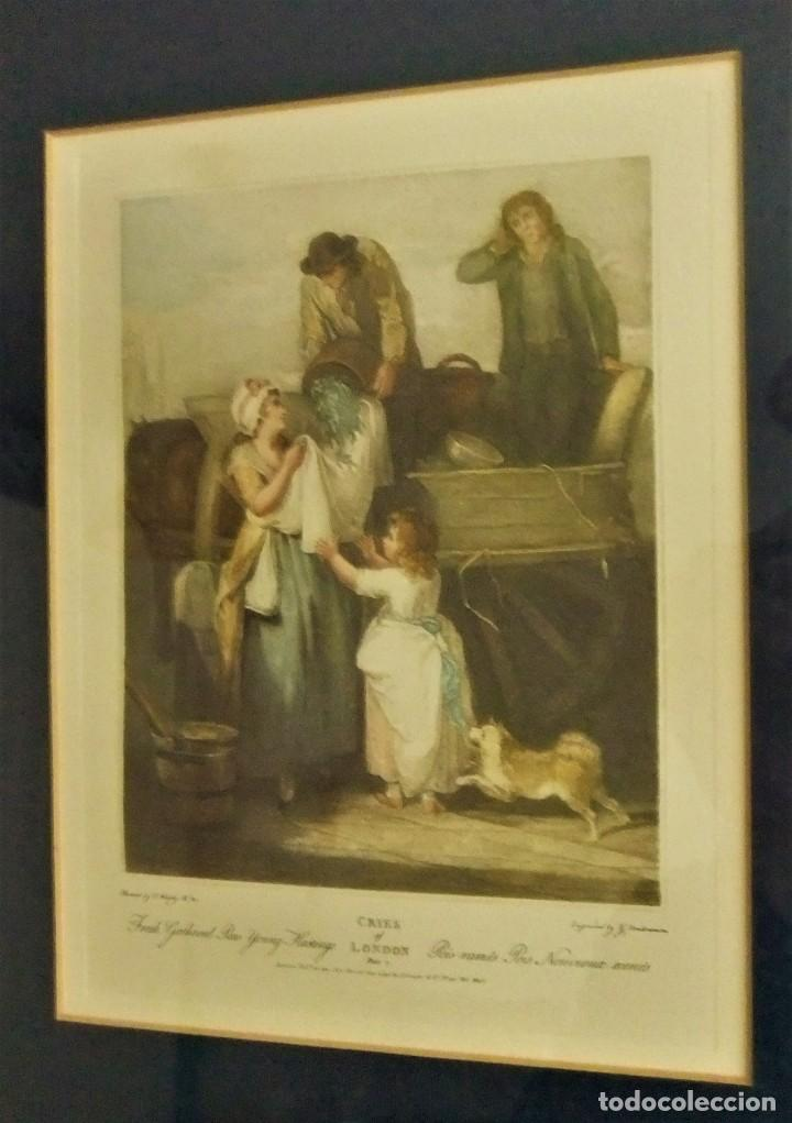 Arte: GRABADO DE LA SERIE CRIES OF LONDON DE F.WHEATLEY R.A. - Foto 2 - 154693314