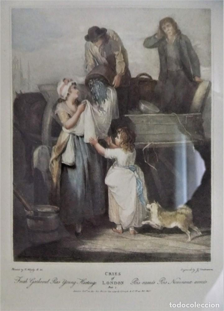 Arte: GRABADO DE LA SERIE CRIES OF LONDON DE F.WHEATLEY R.A. - Foto 3 - 154693314