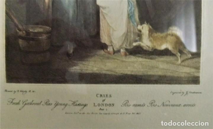 Arte: GRABADO DE LA SERIE CRIES OF LONDON DE F.WHEATLEY R.A. - Foto 5 - 154693314