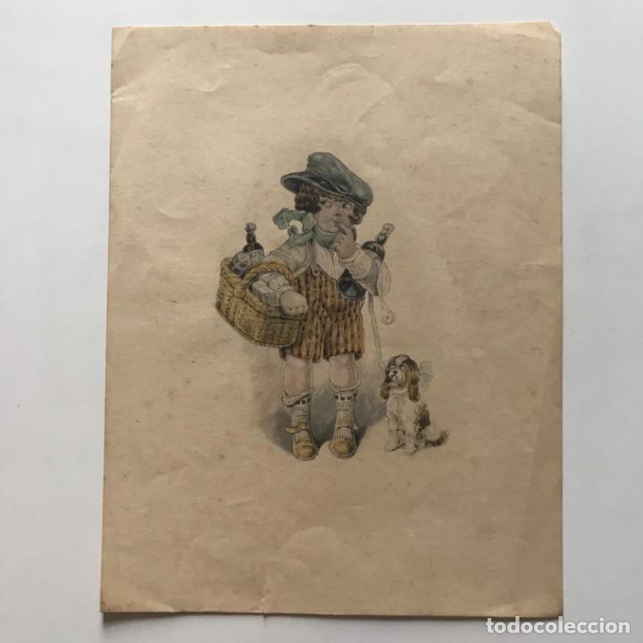 Arte: Grabado motivo infantil 17,3x22,4 cm - Foto 2 - 154789490