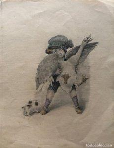 Grabado motivo infantil 17,3x22,4 cm
