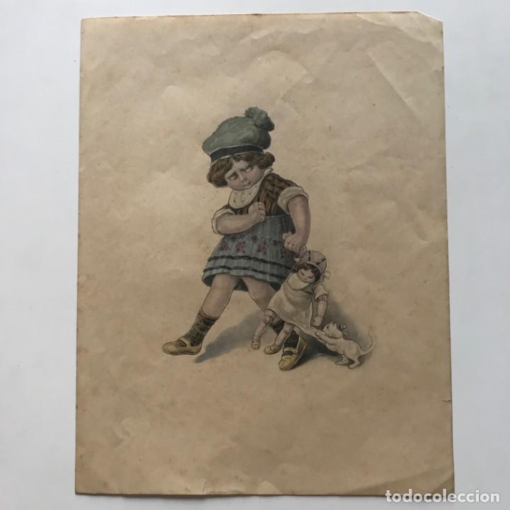 Arte: Grabado motivo infantil 17,3x22,4 cm - Foto 2 - 154789854