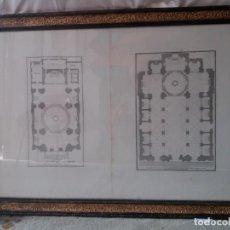 Arte: PAREJA DE GRABADOS ORIGINALES S.XVIII ENMARCADOS. Lote 154861586