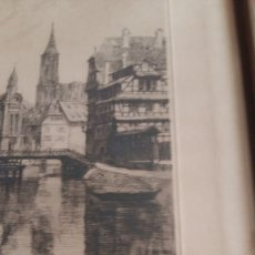 Arte: AGUAFUERTE L.ROBIN,STRASBOURG.LA PETITE FRANCE.FIRMADO.. Lote 153220118
