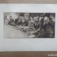 Arte: PRECIOSO GRABADO AL AGUAFUERTE DE RENÉ REINICKE (1860-1926) II RANG, FIRMADO, DATA DE 1889. Lote 155165606