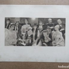 Arte: PRECIOSO GRABADO AL AGUAFUERTE DE RENÉ REINICKE (1860-1926) I RANG, FIRMADO, DATA DE 1890. Lote 177977253