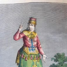 Arte: GRABADO COLOREADO - THEODORUM VIERO VENETUS - DONNA MORDUANA - RUSIA . Lote 155235274