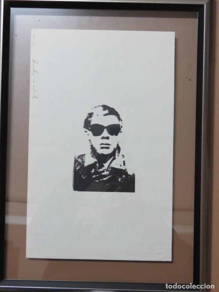 Arte: ANDY WARHOL GRABADO ORIGINAL FIRMADO A LAPIZ Y NUMERADO:AP-06/10,PRIMER AUTORETRATO 1963/64,59x43 CM - Foto 2 - 130160243