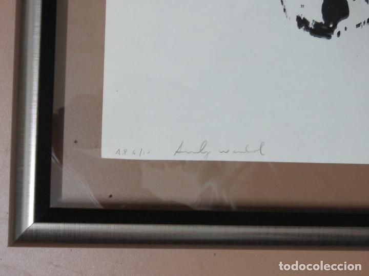Arte: ANDY WARHOL GRABADO ORIGINAL FIRMADO A LAPIZ Y NUMERADO:AP-06/10,PRIMER AUTORETRATO 1963/64,59x43 CM - Foto 3 - 130160243