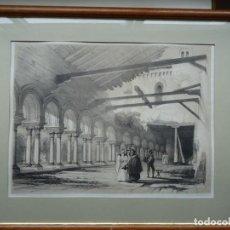 Arte: GRABADO ANTIGUO DE GENARO PEREZ VILLAMIL. Lote 155511594