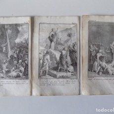 Arte: LIBRERIA GHOTICA. 3 GRABADOS DEL SIGLO XVIII. MEDIDAS 16 X 9,5 CM. EMBLEMATICA.. Lote 155524462