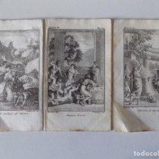 Arte: LIBRERIA GHOTICA. 3 GRABADOS DEL SIGLO XVIII. MEDIDAS 16 X 9,5 CM. EMBLEMATICA.. Lote 155524834