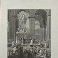 Arte: GRABADO AL AGUAFUERTE. VISTA DE LA CATEDRAL DE NOTRE-DAME POR RÉVILLE. 1794. Lote 155639670