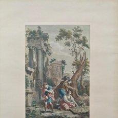 Arte: GRABADO VENECIANO TITULADO LA INDUSTRIA POR FRANCESCO BERARDÍ. SIGLO 19. Lote 155647434