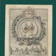 Arte: GRABADO. AÑO 1747. ¿EL GLORIOSO? CÁDIZ. AUTOR: MANUEL ALEGRE, 1768-1815.. Lote 155799878