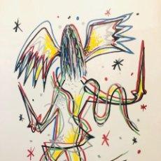 Arte: GRABADO ORIGINAL SERIADO RAFAEL ALBERTI FIRMADO. Lote 155839882